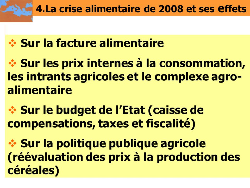 4.La crise alimentaire de 2008 et ses effets