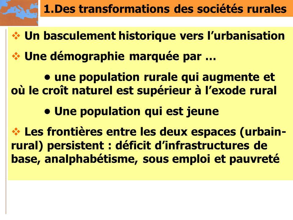 1.Des transformations des sociétés rurales