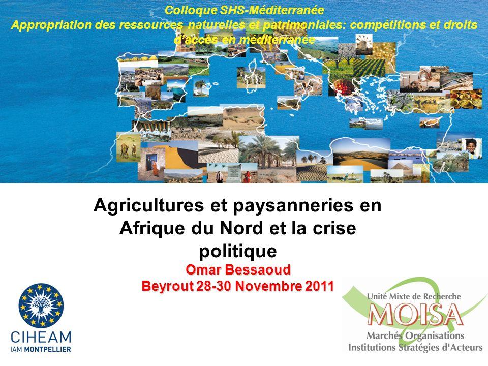 Agricultures et paysanneries en Afrique du Nord et la crise politique