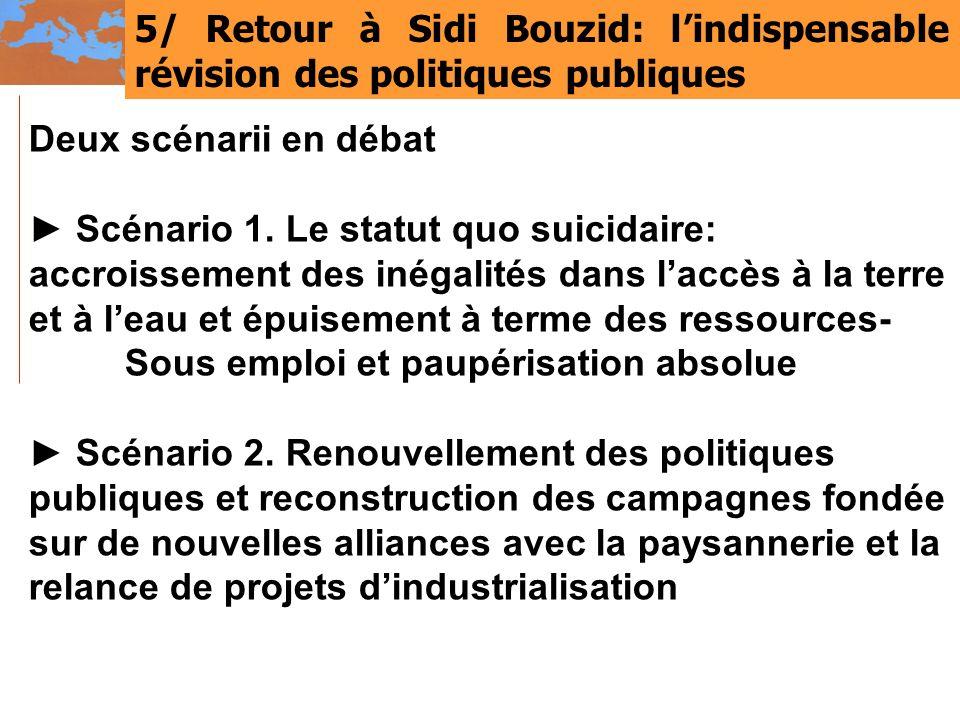5/ Retour à Sidi Bouzid: l'indispensable révision des politiques publiques