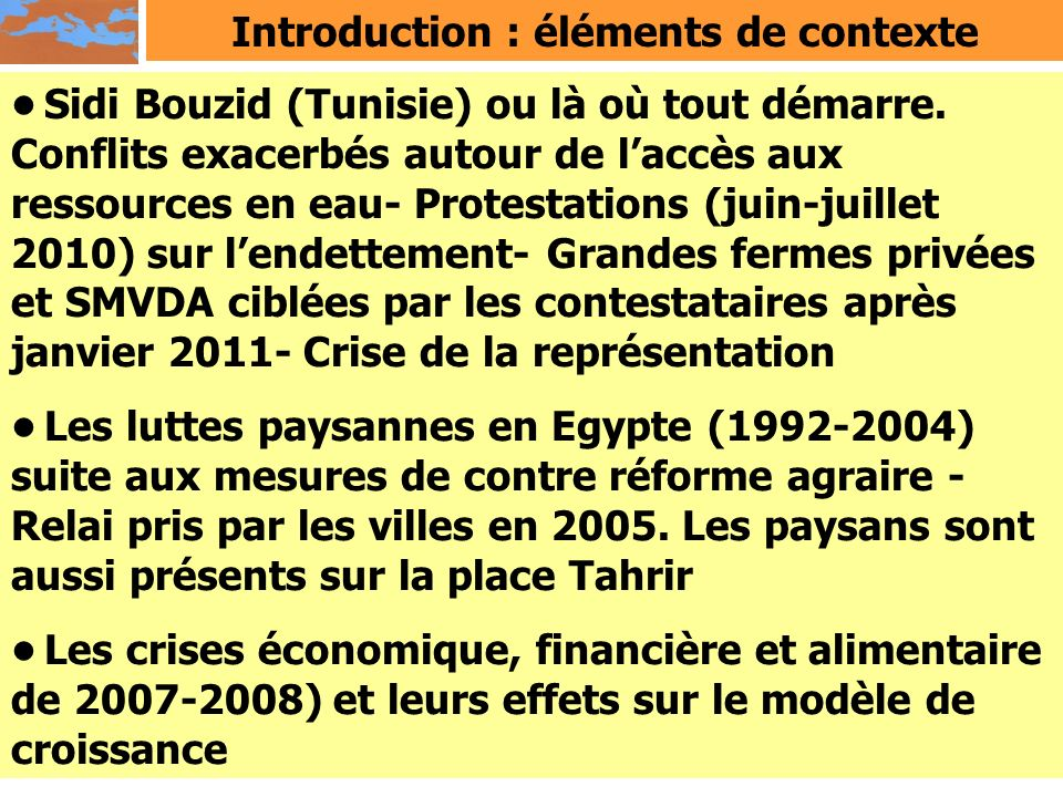 Introduction : éléments de contexte