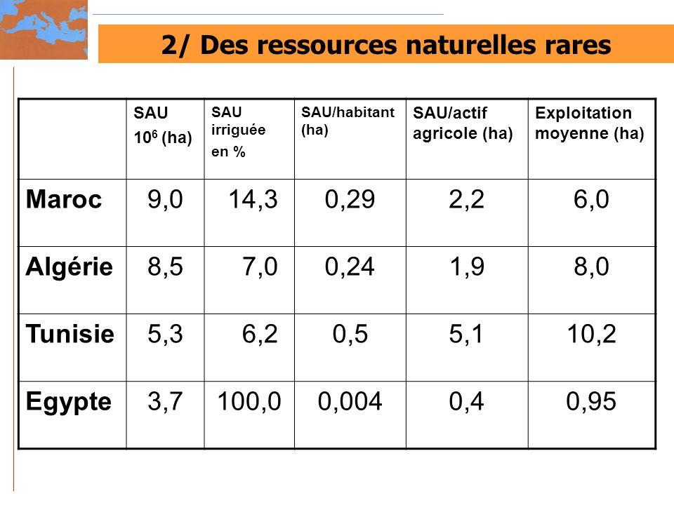 2/ Des ressources naturelles rares