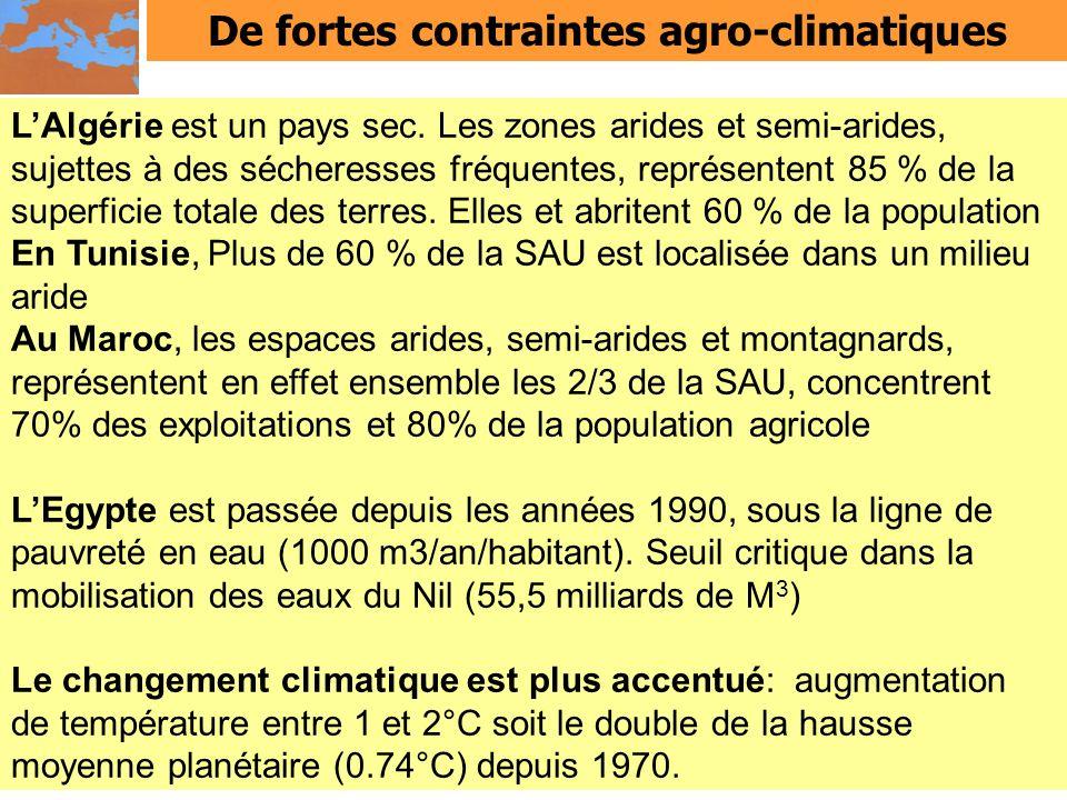 De fortes contraintes agro-climatiques
