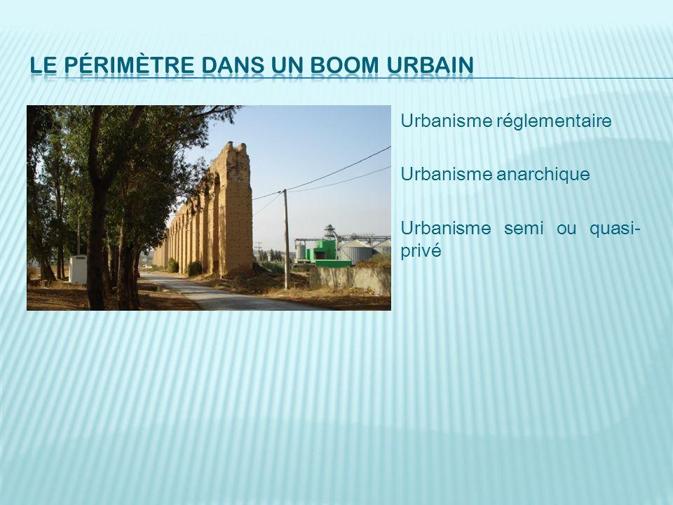 Le périmètre dans un boom urbain