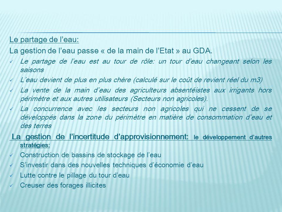 La gestion de l'eau passe « de la main de l'Etat » au GDA.