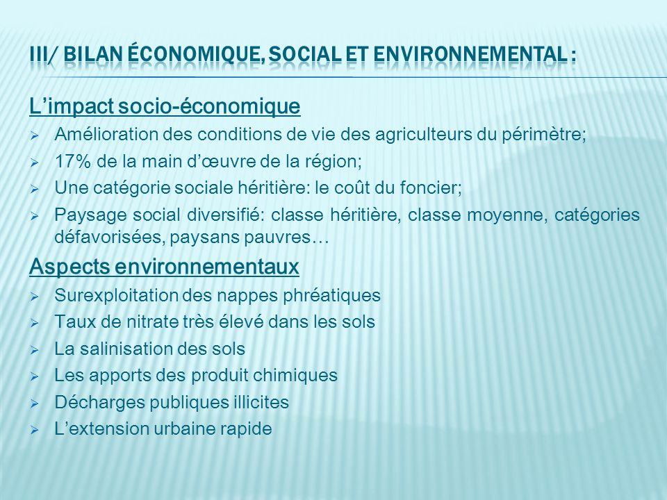 III/ Bilan économique, social et environnemental :