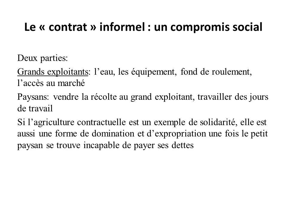 Le « contrat » informel : un compromis social