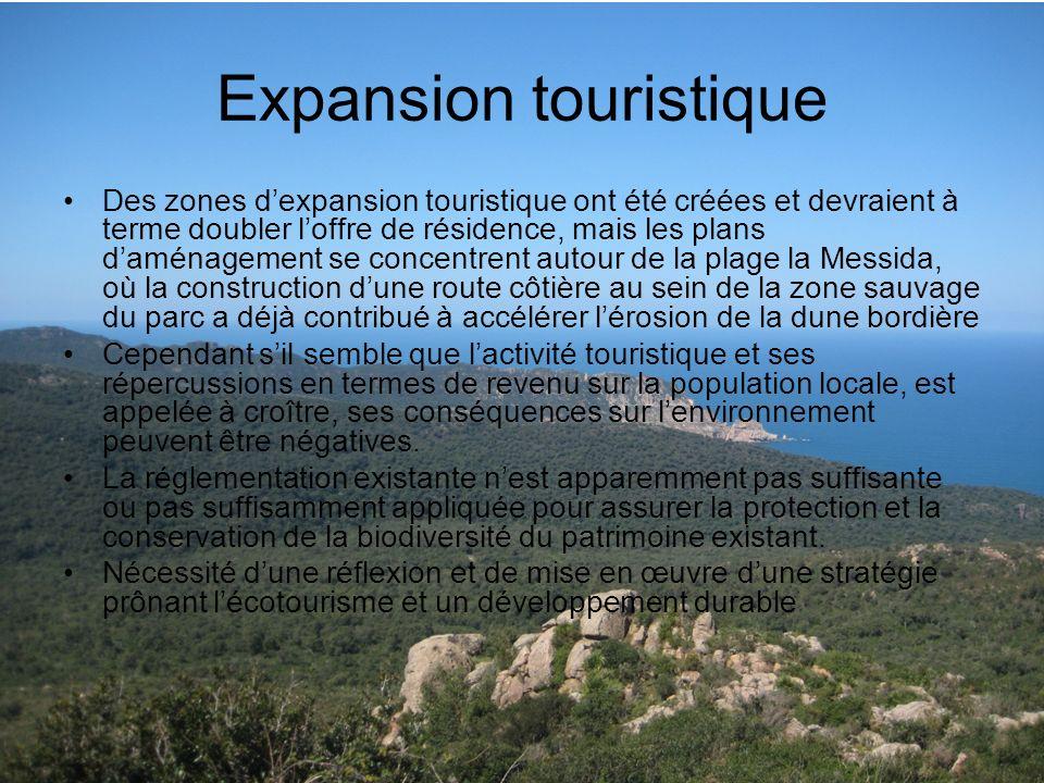 Expansion touristique