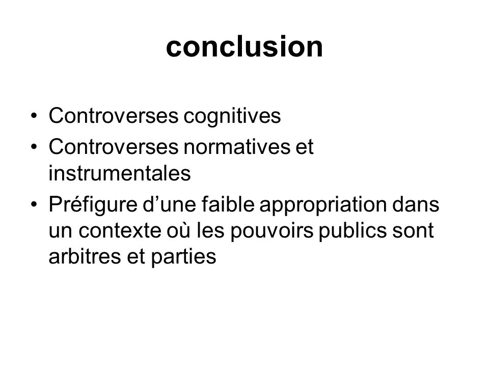 conclusion Controverses cognitives