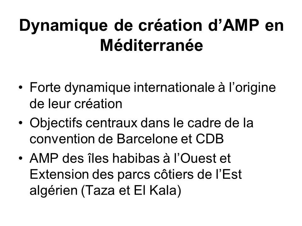 Dynamique de création d'AMP en Méditerranée