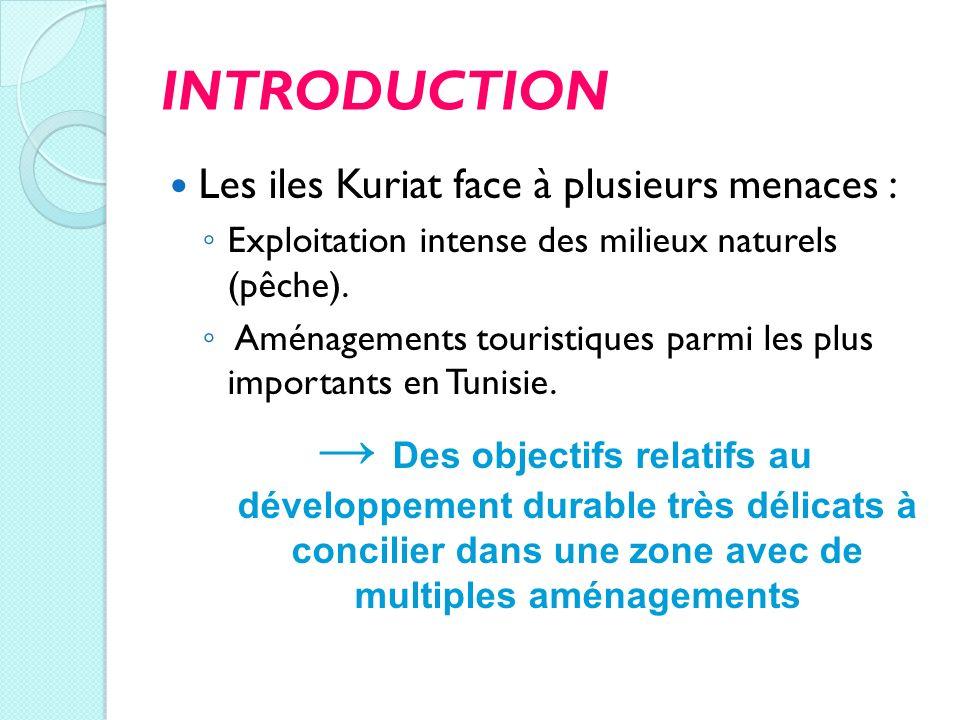 INTRODUCTION Les iles Kuriat face à plusieurs menaces : Exploitation intense des milieux naturels (pêche).