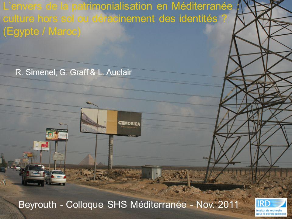 L'envers de la patrimonialisation en Méditerranée : culture hors sol ou déracinement des identités (Egypte / Maroc)