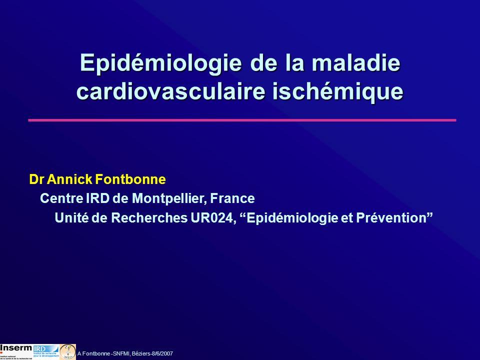 Epidémiologie de la maladie cardiovasculaire ischémique
