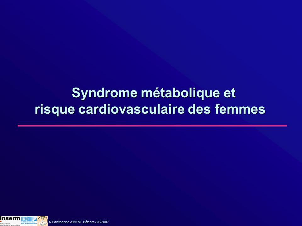 Syndrome métabolique et risque cardiovasculaire des femmes