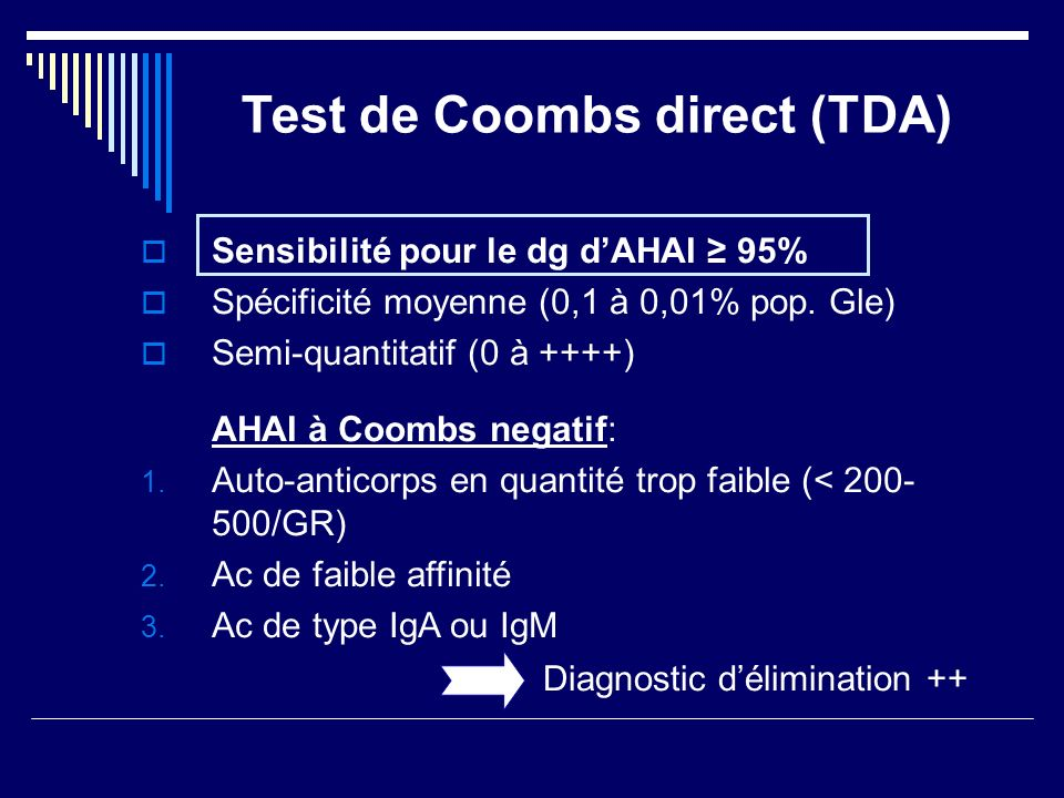 Test de Coombs direct (TDA)