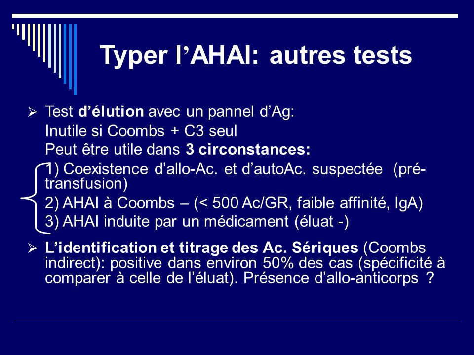 Typer l'AHAI: autres tests
