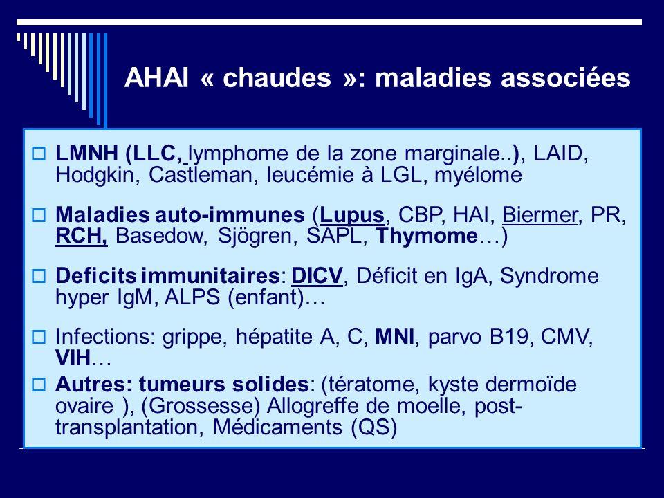 AHAI « chaudes »: maladies associées