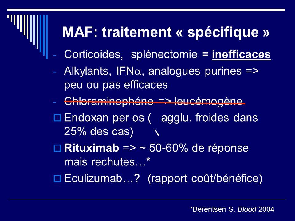 MAF: traitement « spécifique »