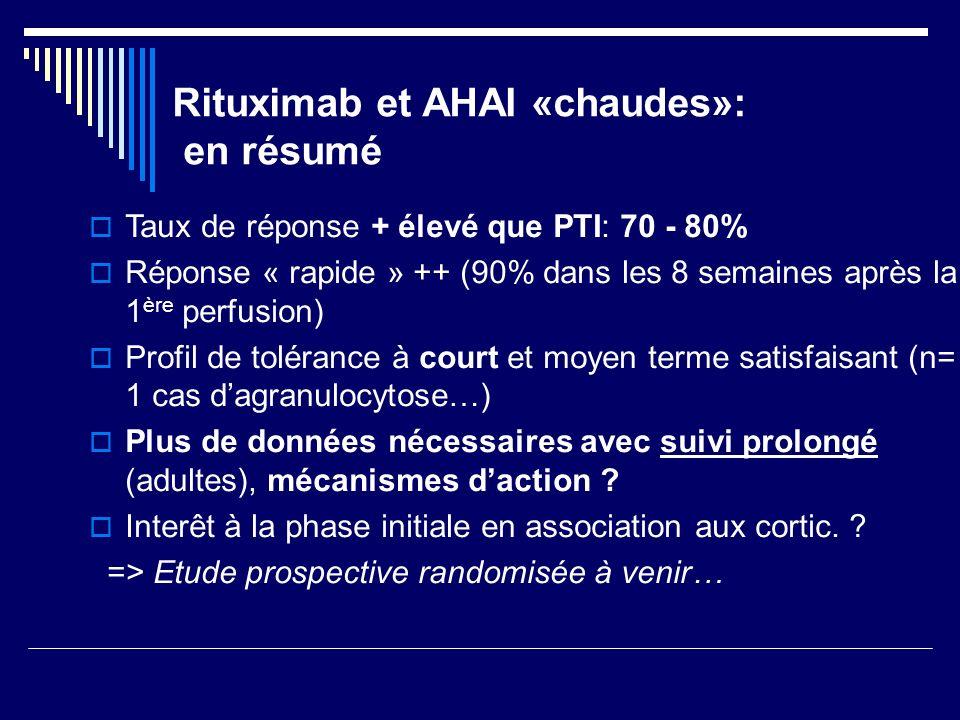 Rituximab et AHAI «chaudes»: en résumé