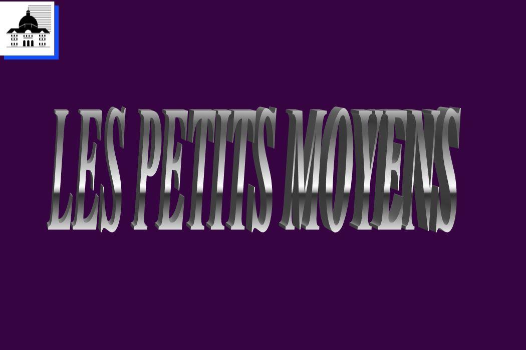 LES PETITS MOYENS