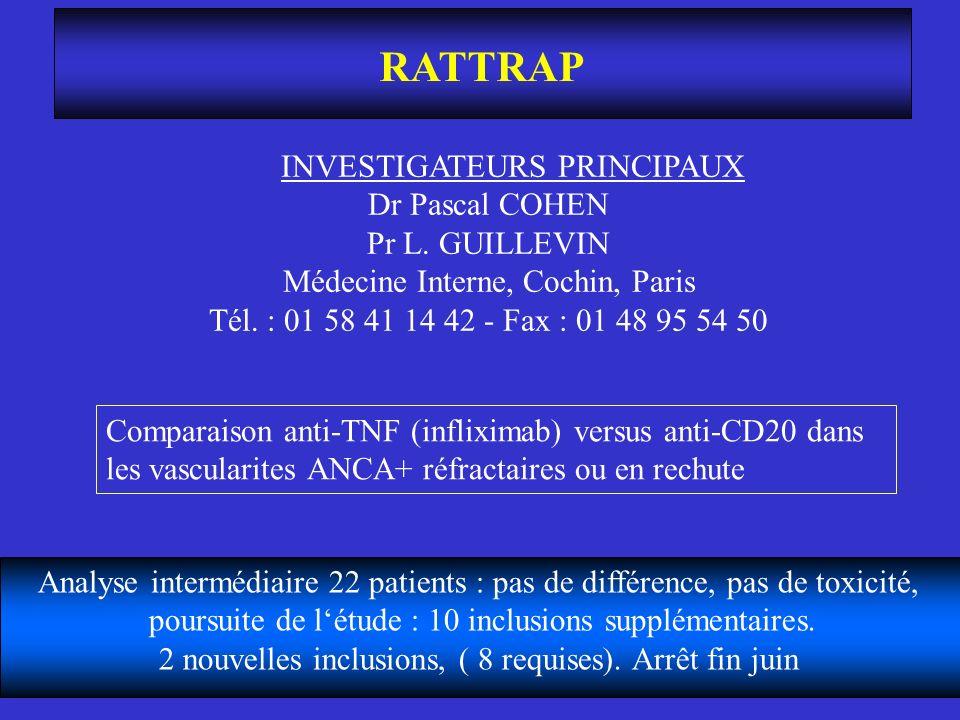 RATTRAP INVESTIGATEURS PRINCIPAUX Dr Pascal COHEN Pr L. GUILLEVIN