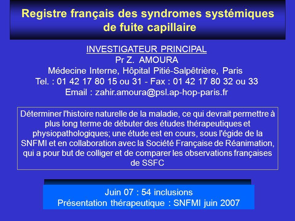 Registre français des syndromes systémiques