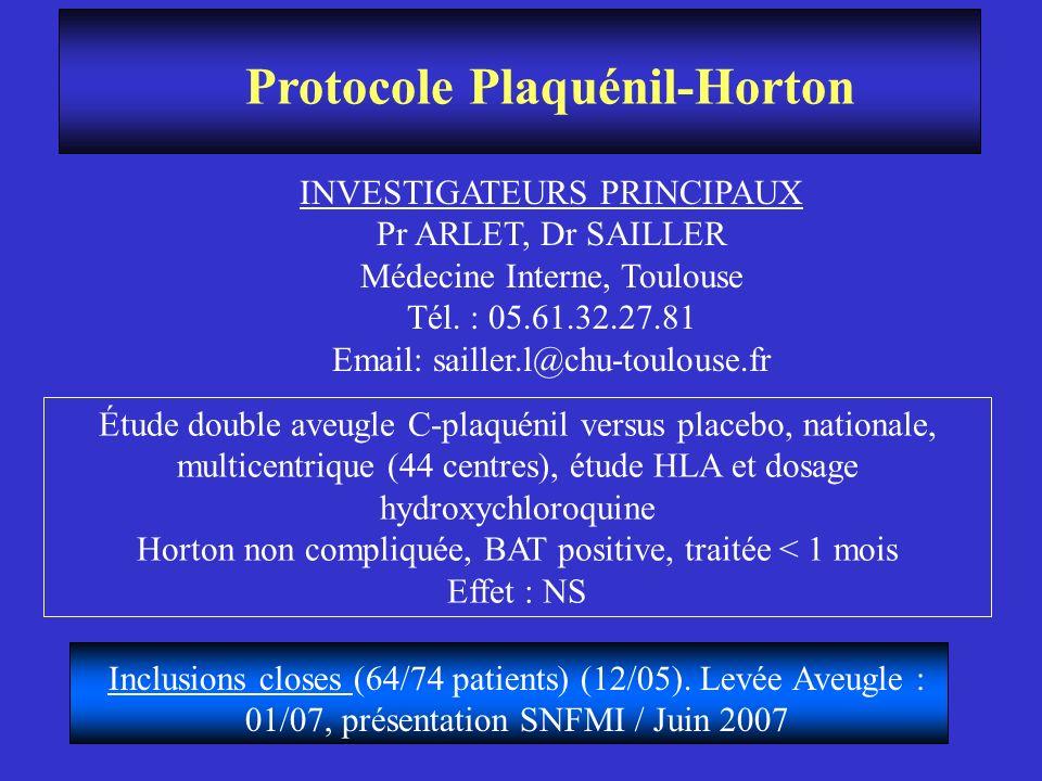 Protocole Plaquénil-Horton