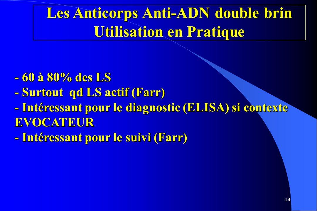 Les Anticorps Anti-ADN double brin Utilisation en Pratique