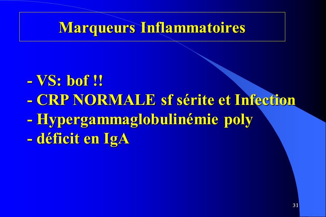 Marqueurs Inflammatoires