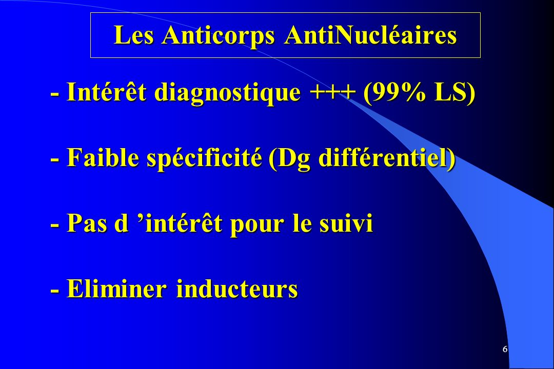 Les Anticorps AntiNucléaires