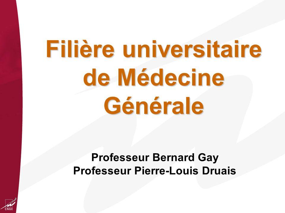 Filière universitaire de Médecine Générale