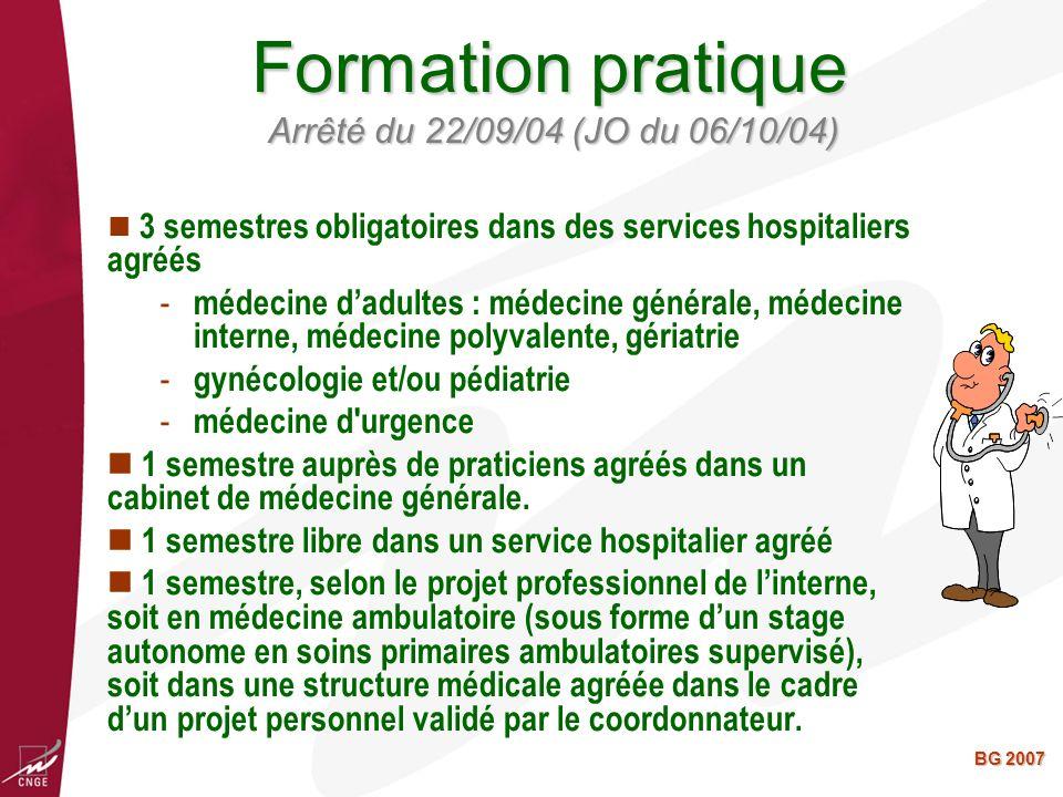 Formation pratique Arrêté du 22/09/04 (JO du 06/10/04)
