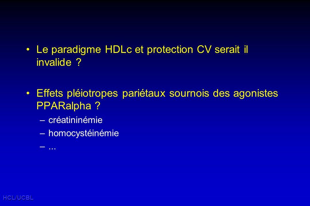 Le paradigme HDLc et protection CV serait il invalide