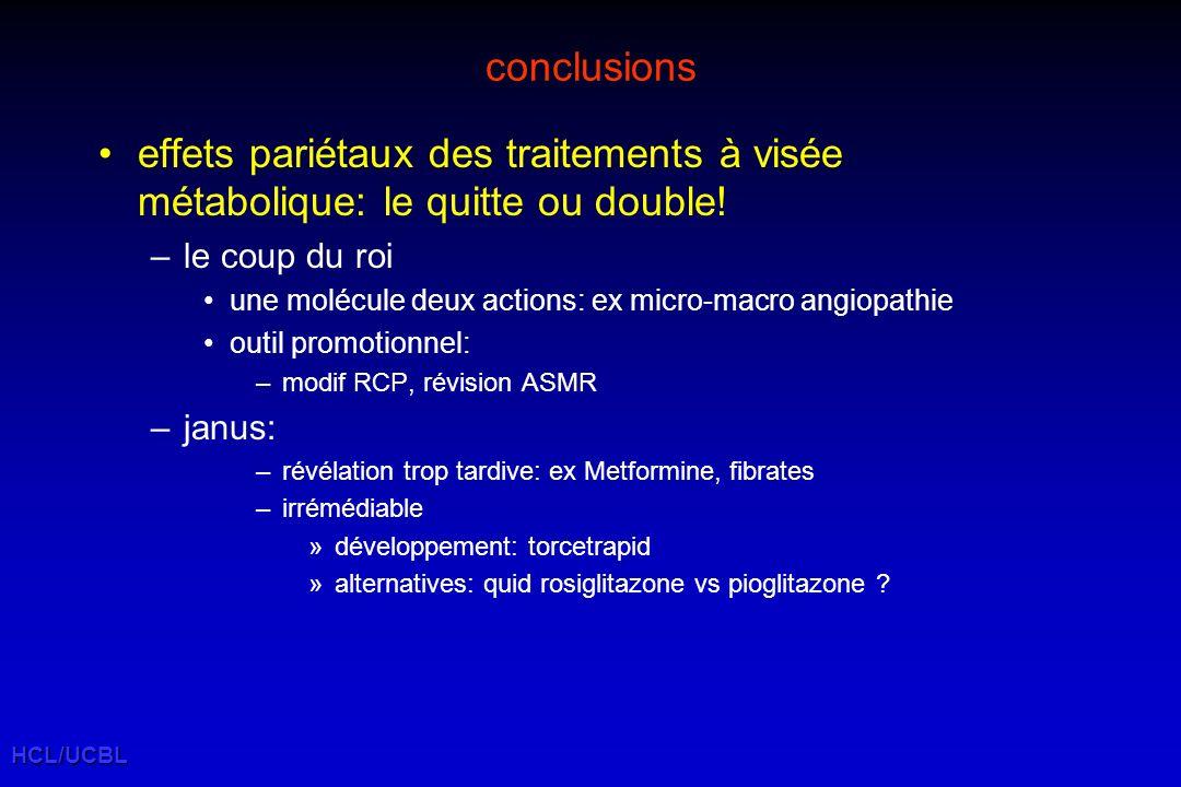 conclusions effets pariétaux des traitements à visée métabolique: le quitte ou double! le coup du roi.