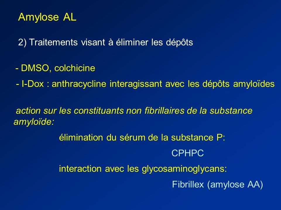 Amylose AL 2) Traitements visant à éliminer les dépôts