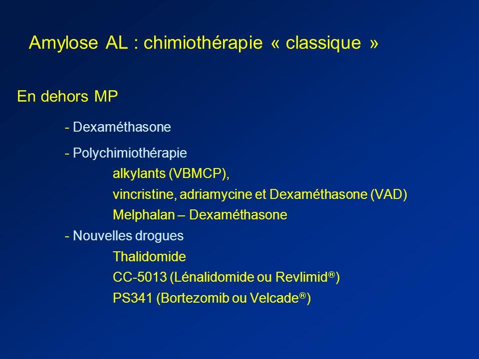 Amylose AL : chimiothérapie « classique »