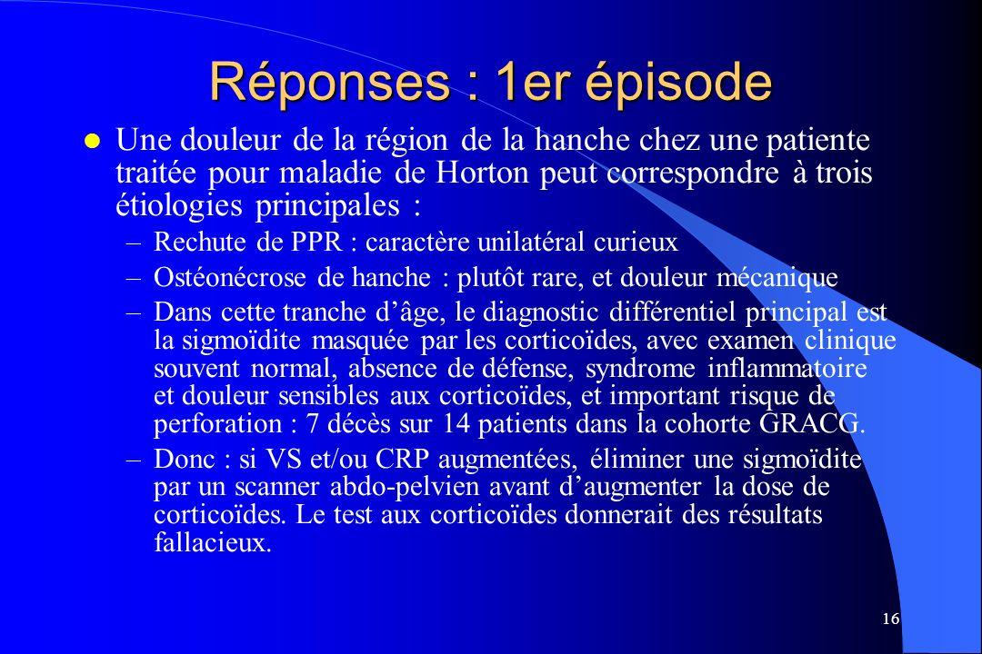 Réponses : 1er épisode