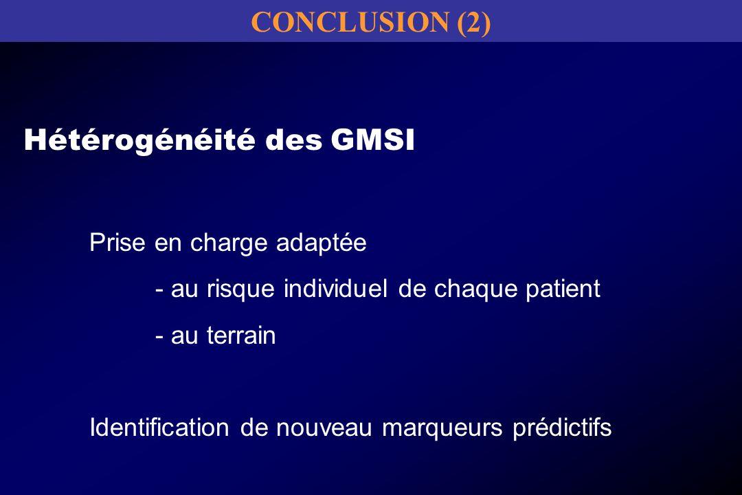 Hétérogénéité des GMSI