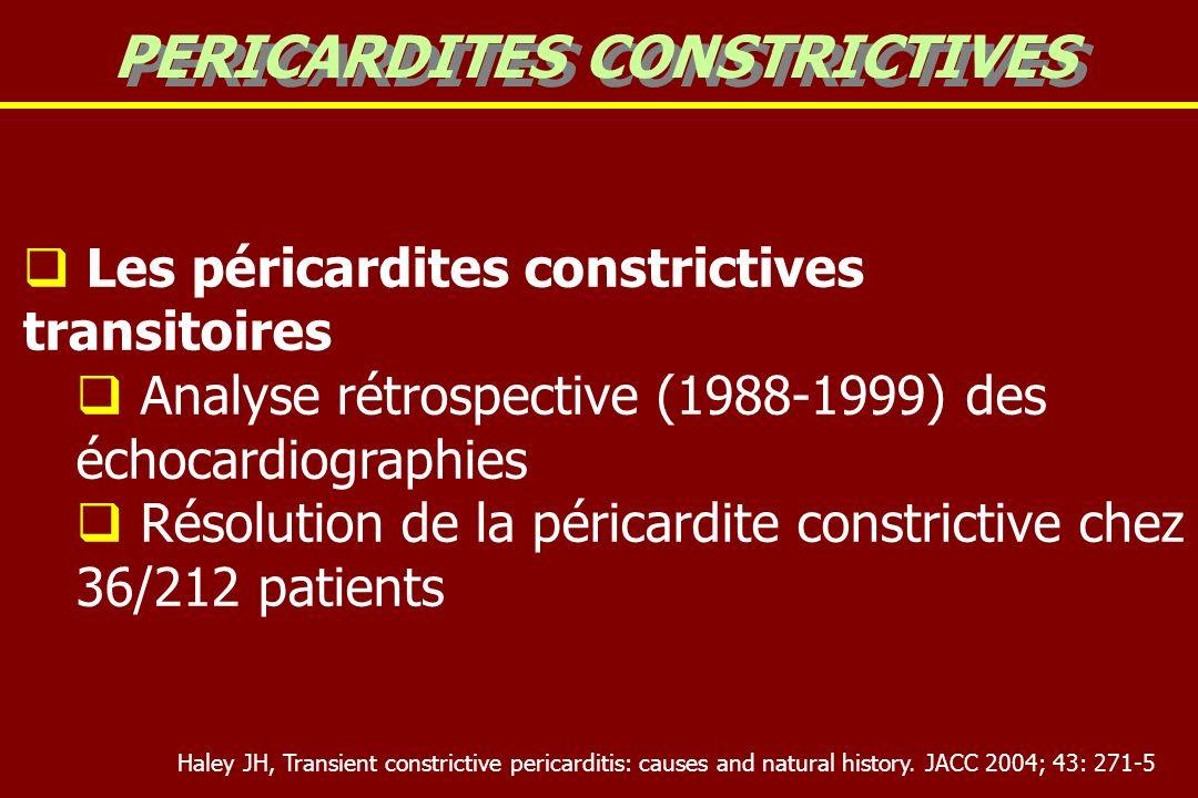 PERICARDITES CONSTRICTIVES