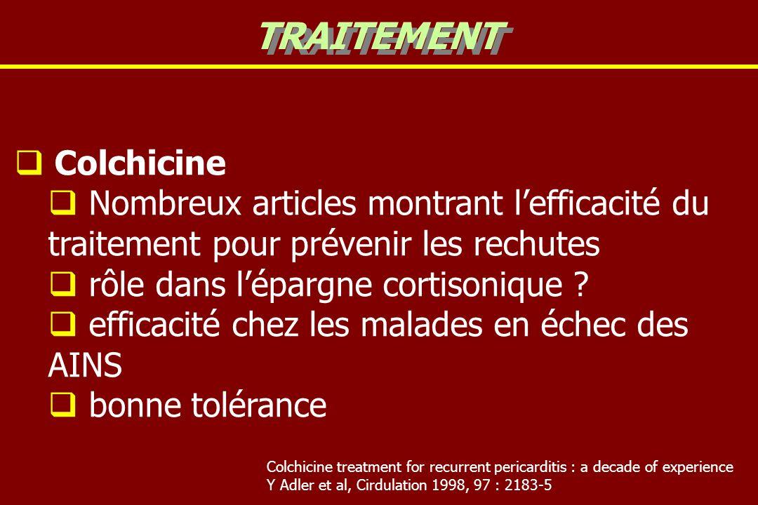 TRAITEMENT Colchicine