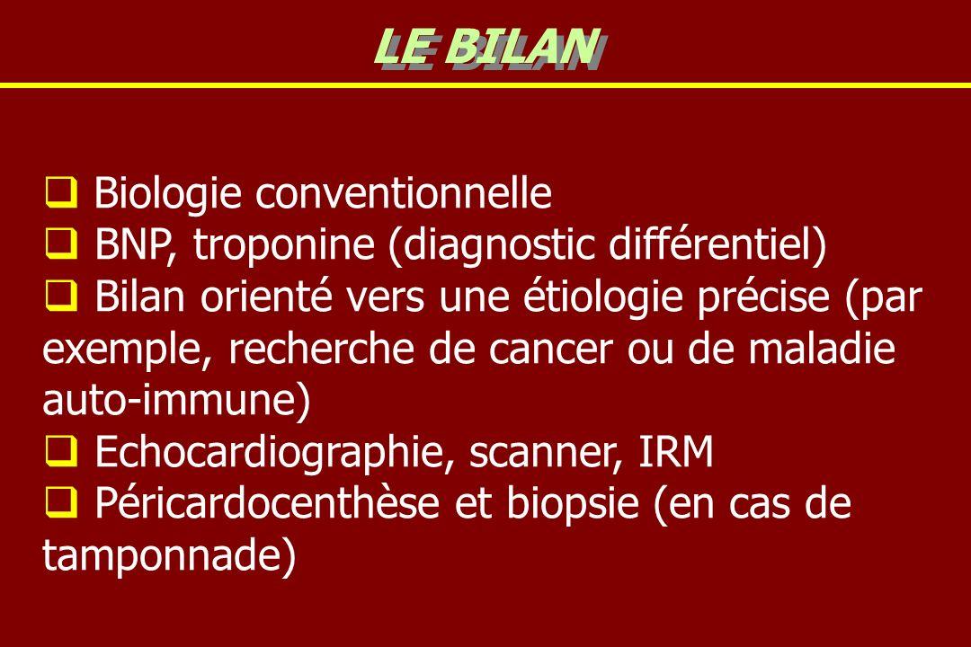LE BILAN Biologie conventionnelle