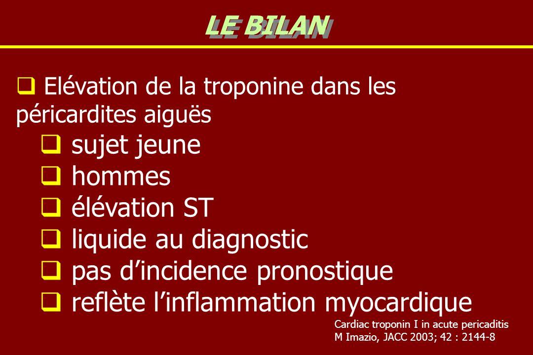 pas d'incidence pronostique reflète l'inflammation myocardique