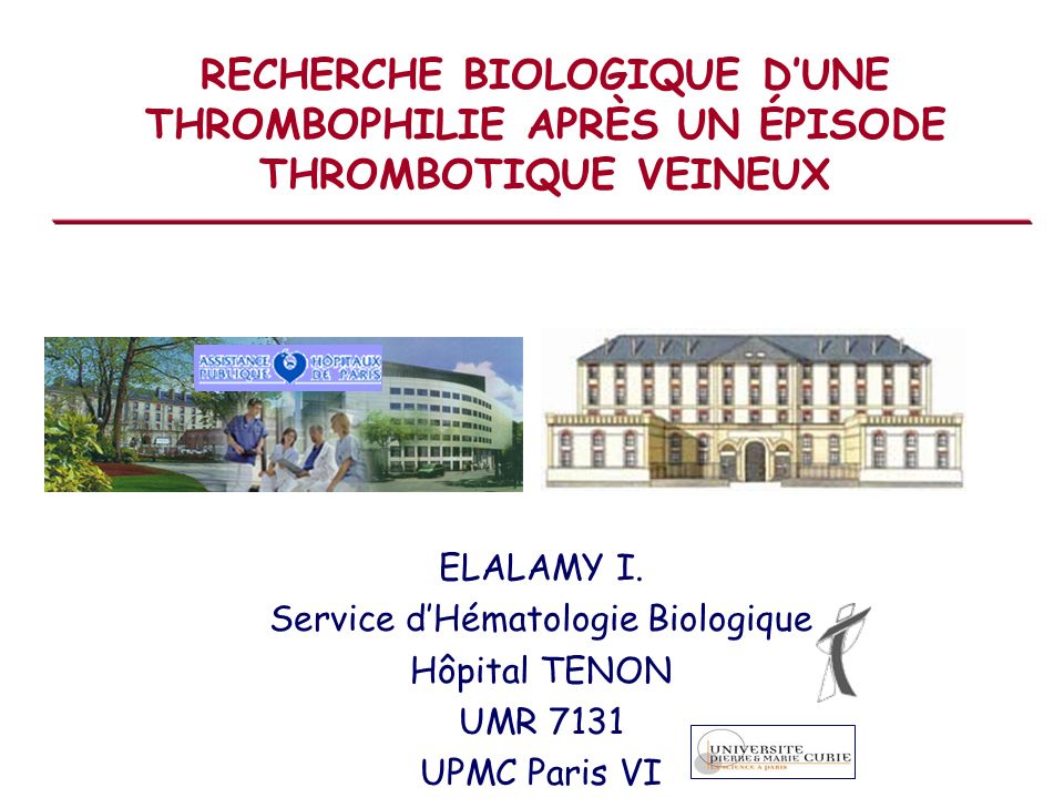 Service d'Hématologie Biologique
