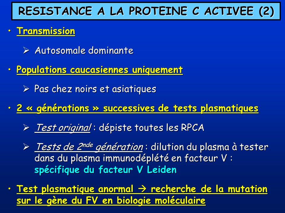 RESISTANCE A LA PROTEINE C ACTIVEE (2)