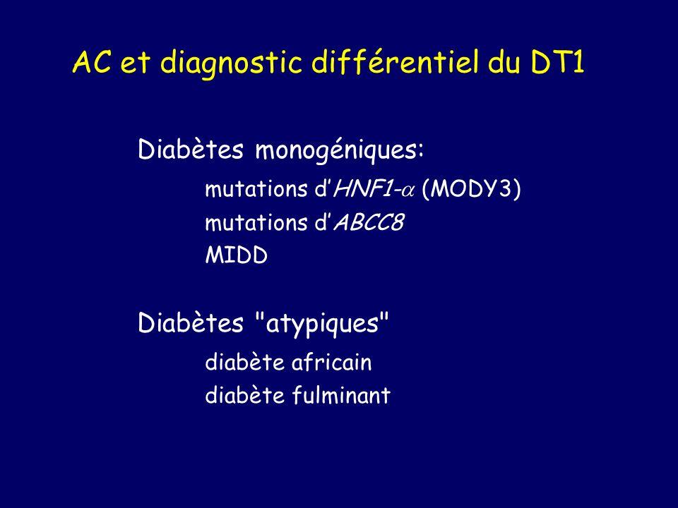 AC et diagnostic différentiel du DT1
