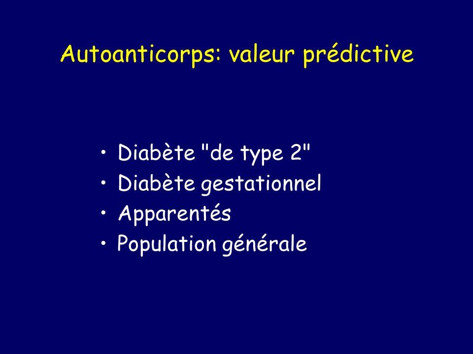 Autoanticorps: valeur prédictive