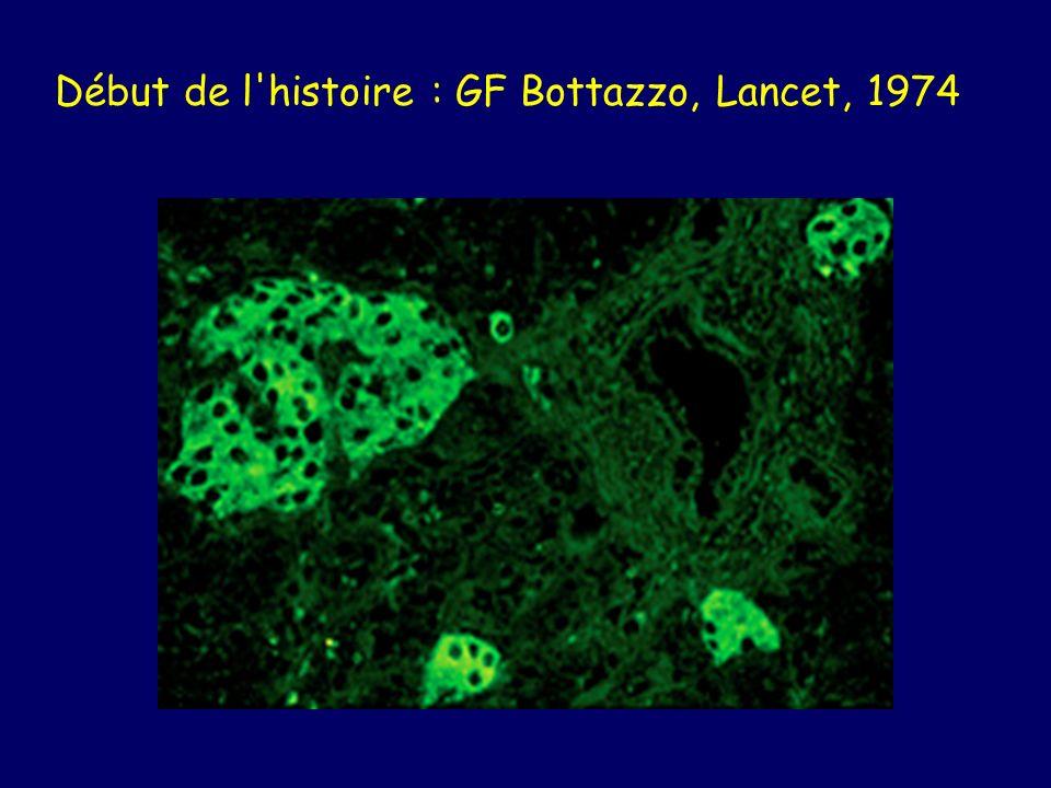 Début de l histoire : GF Bottazzo, Lancet, 1974