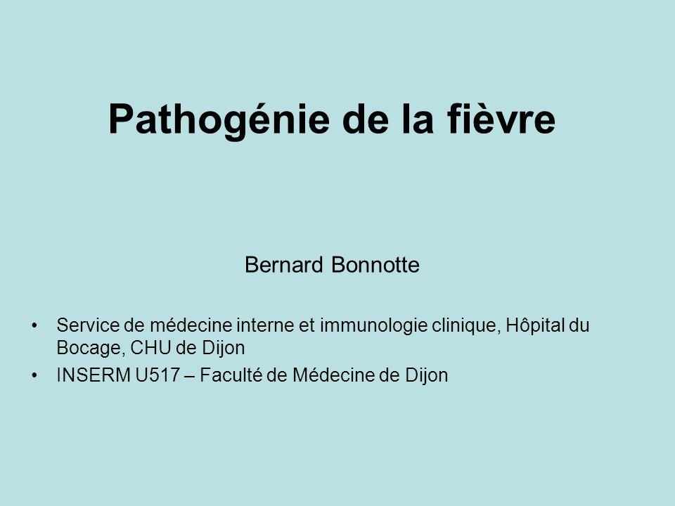 Pathogénie de la fièvre