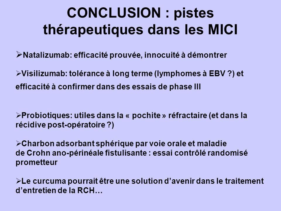 CONCLUSION : pistes thérapeutiques dans les MICI
