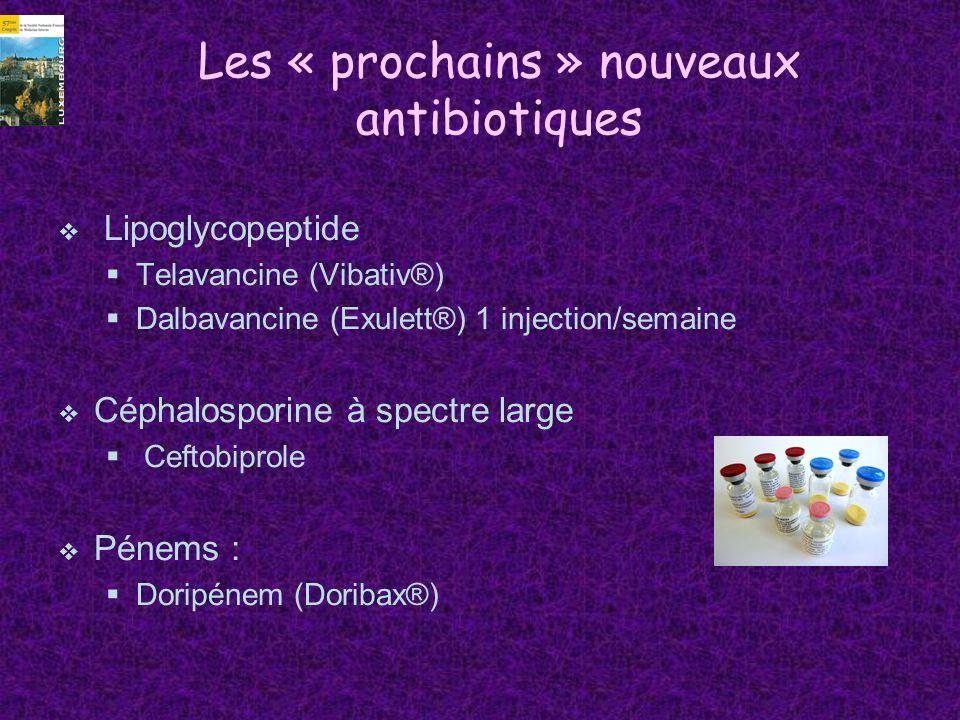 Les « prochains » nouveaux antibiotiques